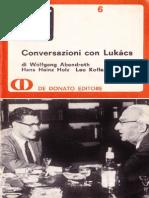 Conversazioni Con Lukacs