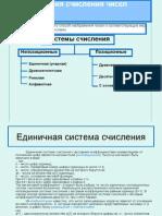 Презентация системы счисления