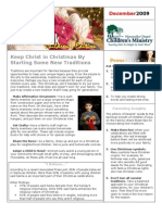 Parent Newsletter December 2009