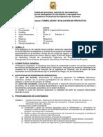 Formulacion y Evaluacion de Proyectos 2014 II