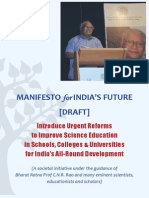 Manifesto for India's Future - DRAFT