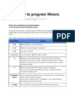 How to Program Miners