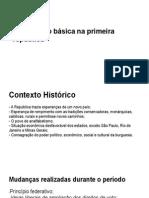 educaçao basica na primeira republica