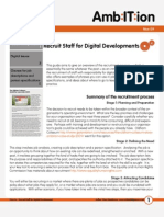 How to...Recruit staff for digital developments