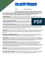 Counseling Center Newsletter - January 2010