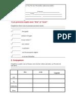 Teste Francês 7º Gramatica