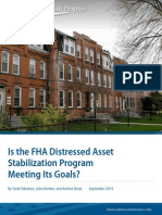 Is the FHA Distressed Asset Stabilization Program Meeting Its Goals?