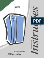 Manual de Instruções Freezer Electrolux FE 180