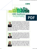 CBRE Healthcare Expands