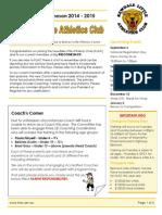 Registration Newsletter 2014-15