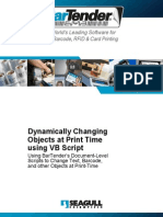 Dynamically Changing Objects at Print Time Using Vb Script