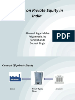 A Study on Private Equity in India