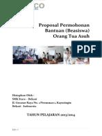 Proposal Beasiswa 20132014