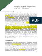 Location Determination Using WiFi Fingerprinting Versus WiFi Trilateration