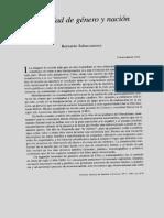 Subercaseaux, Bernardo - Identidad de Género y Nación