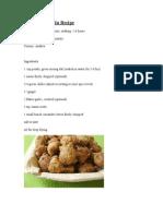 Pesara Punukulu Recipe