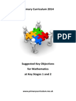 Maths Key Objectives