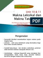 BBM 3206 Unit 10 & 11 Makna Leksikal & Makna Tatabahasa NSPP