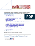 CWA Newsletter, September 4, 2014