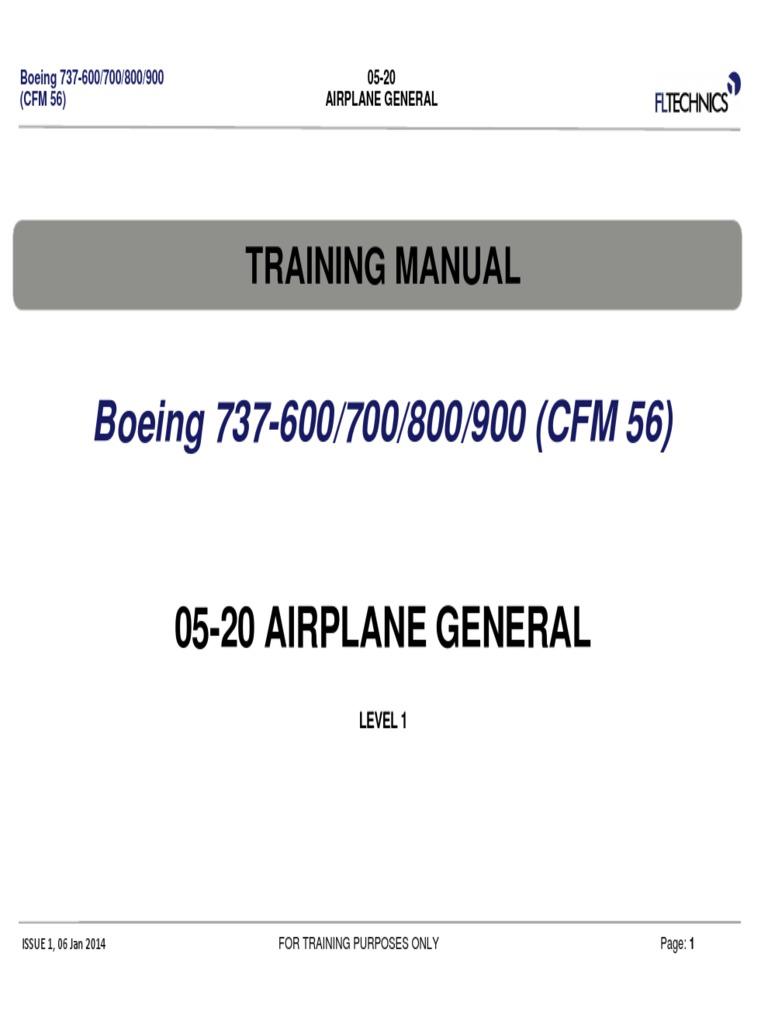 boeing 737 ng 05 20 level 1 pdf landing gear airplane rh es scribd com Maintenance Manual Template Maintenance Manual Template