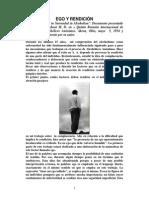 Harry M. Tiebout - Ego y Rendici�n del Alcoholico