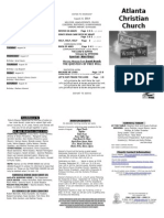 August 24, 2014 Trifold Bulletin
