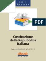 Costituzione Della Repubblica Italiana (2012)