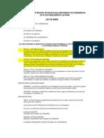 Ley 29409 Ley de Paternidad