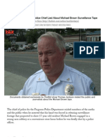 Ferguson Police Chief Lied About Michael Brown Tape