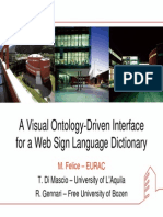 A Visual Ontology-DrivenInterface for a Web Sign Language Dictionary