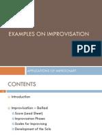Harmonic Wheel - Applications of Improchart - Examples Improvisation