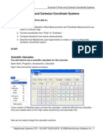 MCP Manual - Exercise 5 Polar and Cartesian Coordinate Systems