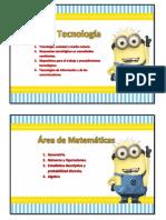 Areas Pedagogicas Con Minios