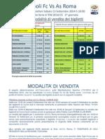 Empoli Roma Biglietti