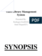 Video Library Management System
