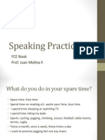 Speaking Practice Sports