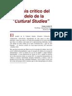 Análisis Crítico Del Modelo de Los Estudios Culturales