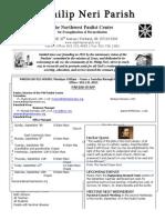 Bulletin for September 7, 2014