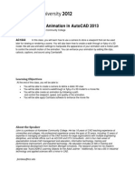 Handout 1844 AC1844 Introduction to Animation in AutoCAD 2012 Class Handout
