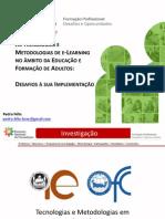 ENF-Comunicação Pedro Félix - As TIC Na Formação Práticas Pedagógicas e Aprendizagem