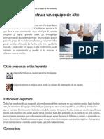 5 Pasos Para Construir Un Equipo de Alto Rendimiento _ EHow en Español