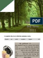 Green Test 3rd Term 2011