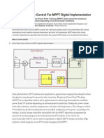 Direct Duty Cycle Control for MPPT Digital Implementation