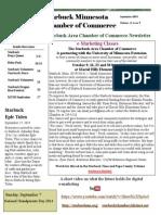 Starbuck Chamber Newsletter September 2014