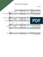 Só Em Teus Braços - Score and Parts