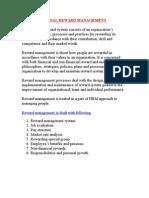Organisational Reward System