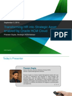 Transforming HR into a Strategic Asset enabled by Oracle HCM Cloud