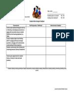 student work sample feedback