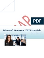 OneNote 2007 Instructor Manual Sample