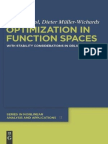 Peter Kosmol, Dieter Muller-Wichards-Optimization in Function Spaces_ With Stability Considerations in Orlicz Spaces (de Gruyter Series in Nonline